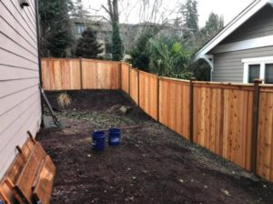 fence construction project in bellevue wa